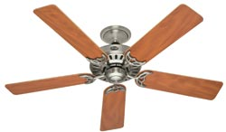 25518 52-inch Brushed Nickel with Maple/Chestnut Blades