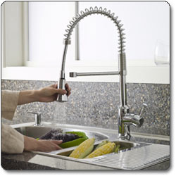 American Standard Pekoe Semi Professional Kitchen Faucet Pull Down ...