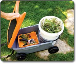 Amazoncom Fiskars 6220 Sit And Store Garden Caddy With Built In