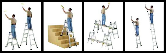 Werner 17 Feet Aluminum Multi Ladder 300 Pounds