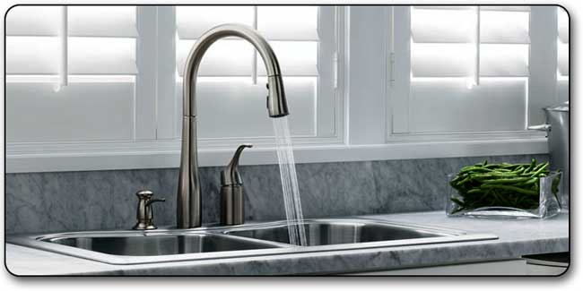 KOHLER K-647-CP Simplice Pull-Down Kitchen Sink Faucet