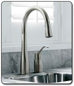 KOHLER K-647-VS Simplice Pull-Down Kitchen Sink Faucet, Vibrant ...