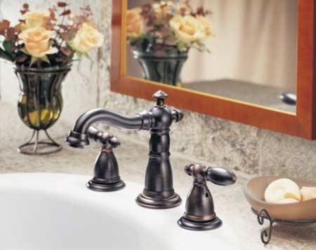 Delta Victorian 3555RB-216RB Two Handle Widespread Bathroom Faucet ...