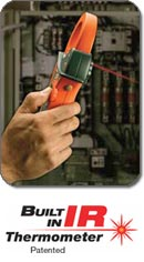 Extech EX820 1000A True RMS AC Clamp Meter with IR Thermometer - Built-in IR Thermometer