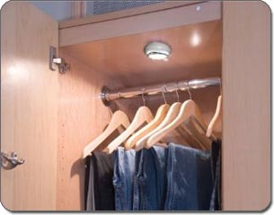 the wireless fiveled puck lights can be used on shelving in closets or in kitchens - Led Puck Lights