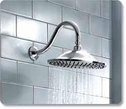 American Standard 10-Inch Rain Easy Clean Showerhead, Polished Chrome