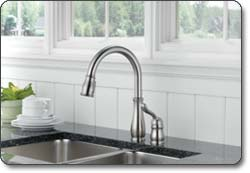 Delta Leland Single Handle Pull Down Kitchen Faucet