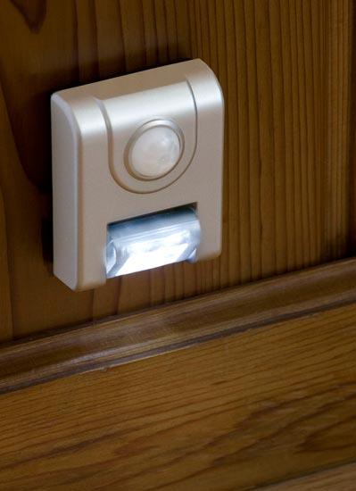 motion sensor light mounts anywhere to illuminate dark areas