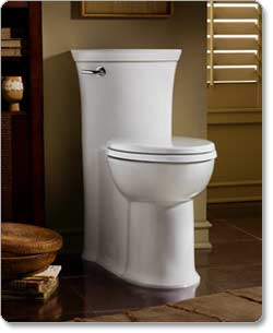 American Standard Tropic Right-Height Elongated 1-Piece Toilet, White