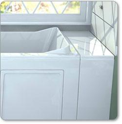 American Standard Gelcoat Tub Extender, White