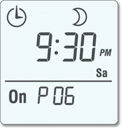 7-Day Solar Time Table Programmable Switch display