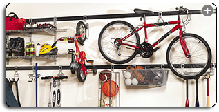 The FastTrack System Is A Perfect Choice For Organizing Yard Tools Sports Gear And Anything Else You Need To Keep Out Of Way But Not Reach
