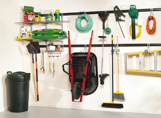 the fasttrack system is a perfect choice for organizing yard tools sports gear and anything else you need to keep out of the way but not out of reach