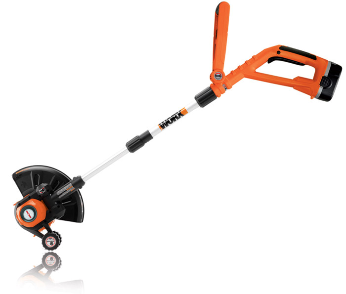 The trimmer-edger's ErgoSum Design converts from a trimmer to an edger