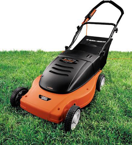 Black decker mm875 lawn hog 19 inch 12 amp for Lawn mower electric motor