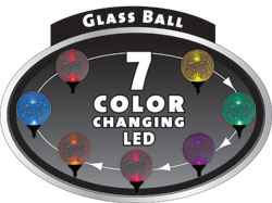Moonrays 99924 Color Changing Solar Glass Ball Fixture 1Pack