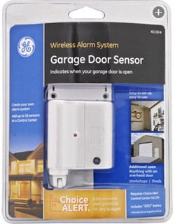 This wireless sensor runs on a single lithuium battery and makes it easy to monitor any overhead door. View larger. & GE Choice Alert Wireless Alarm System Garage Door Sensor - Home ... Pezcame.Com