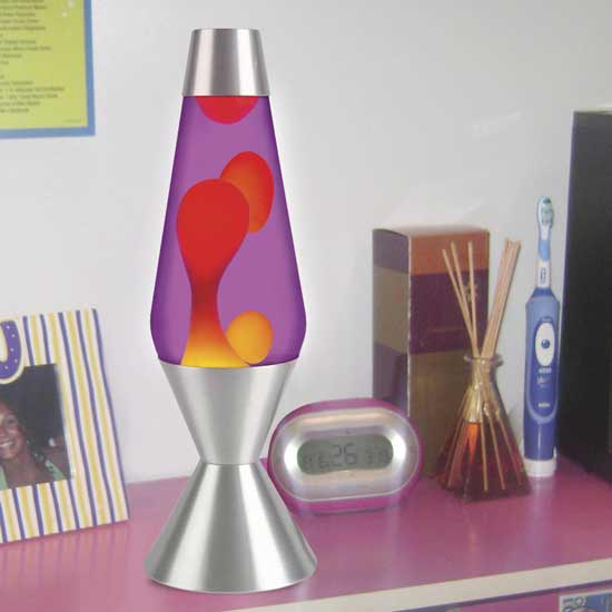 Great Lava Lite 52 Oz Lava Lamp   Yellow/Purple/Silver