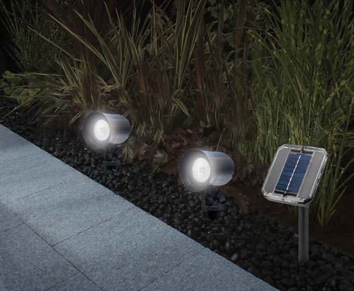 Strathwood Solar Garden Path Spot Lights Black Set Of 2