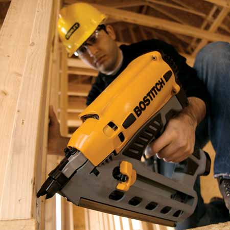 gf28ww framing nailer over molded rubber grip