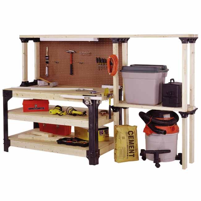 Hopkins 90164 2x4basics Workbench And Shelving Storage System Home Improvement