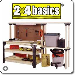Surprising 2X4Basics 90164 Custom Work Bench And Shelving Storage System Black Camellatalisay Diy Chair Ideas Camellatalisaycom