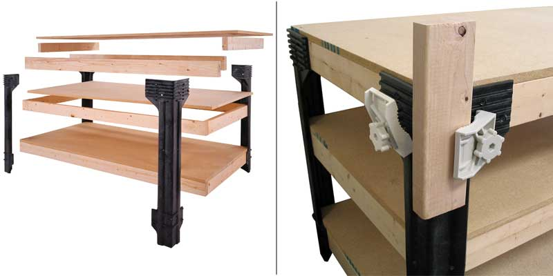 2x4basics 14429 Workbench And Shelving Storage System With
