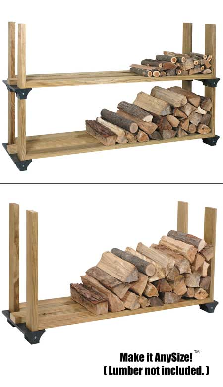 homemade firewood rack plans