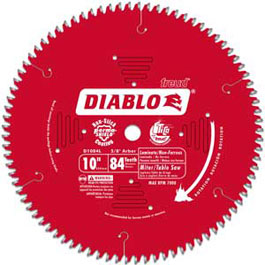 Freud D1084l 10 Inch Diameter 84t Tcg Saw Blade With 5 8
