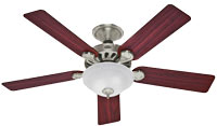 23722 52-Inch Brushed Nickel with five Cherry/Maple blades