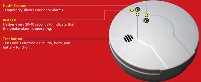 Kidde I9060 Battery Operated Ionization Sensor Smoke Alarm