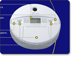 Kidde KN-COPP-B Carbon Monoxide Alarm with Digital Display
