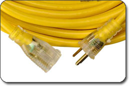 Extension Cord with Lighted End<
