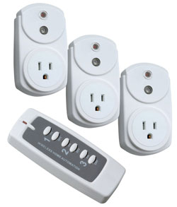 3-Outlet Wireless Remote Converter Kit