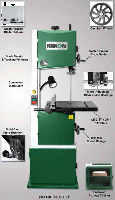 Rikon 10 325 14 inch deluxe band saw power band saws amazon rikon 10 325 14 inch deluxe bandsaw greentooth