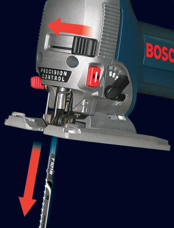 Bosch 1590evsk 64 amp top handle jigsaw power jig saws amazon one touch blade change technology lets you quickly release and insert blades greentooth