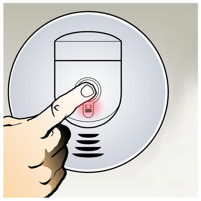 kidde 0919 9999 rf sm dc battery operated interconnectable smoke. Black Bedroom Furniture Sets. Home Design Ideas