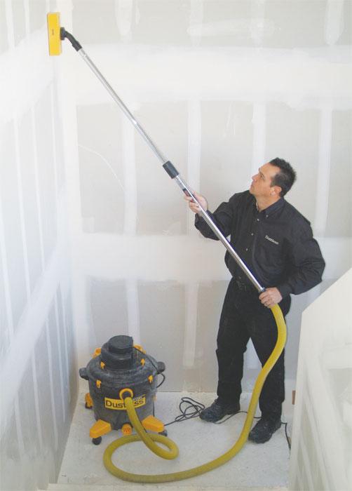 Vacuum Powered Dustless Turbo Drywall Sander Sanding