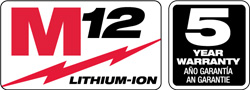 milwaukee m12 logo. launched in 2008, the m12 series from milwaukee offers compact, lightweight tools that are easy to transport and maneuver on logo l