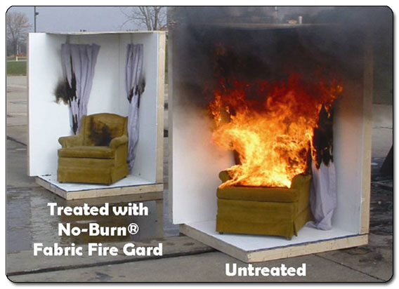 Amazon Com No Burn Fabric Fire Gard Spray 32 Ounce Home