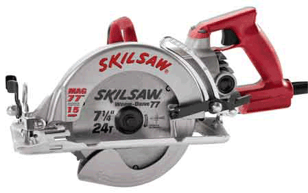 Skil shd77m 15 amp 7 14 inch mag worm drive skilsaw circular saw magnesium die cast housings make the shd77m 2 pounds lighter than aluminum models greentooth Gallery