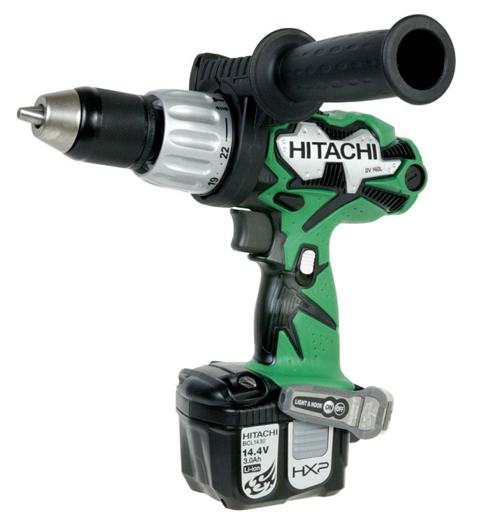 hitachi hammer drill. no-tool bit changes and led illumination are two of the conveniences that come with this drill. hitachi hammer drill y