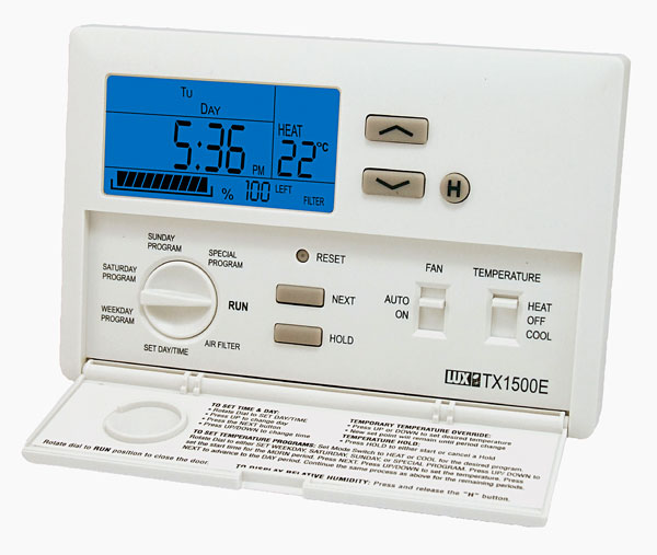 lux products tx1500e smart temp programmable thermostat rh amazon com lux 1500 programmable thermostat manual lux 1500 programmable thermostat manual