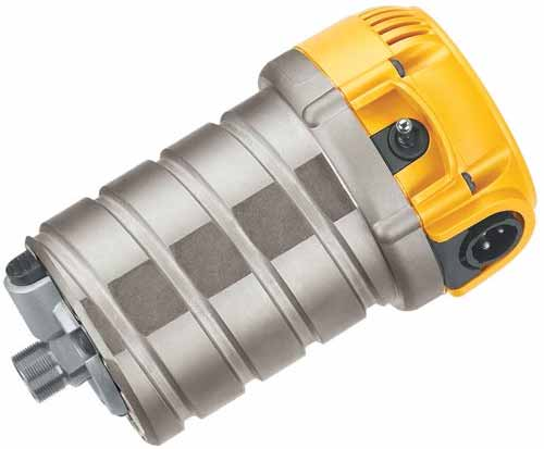 Motor power of DEWALT DW618PK 12-AMP 2-1/4 HP Plunge and Fixed-Base Variable-Speed Router Kit