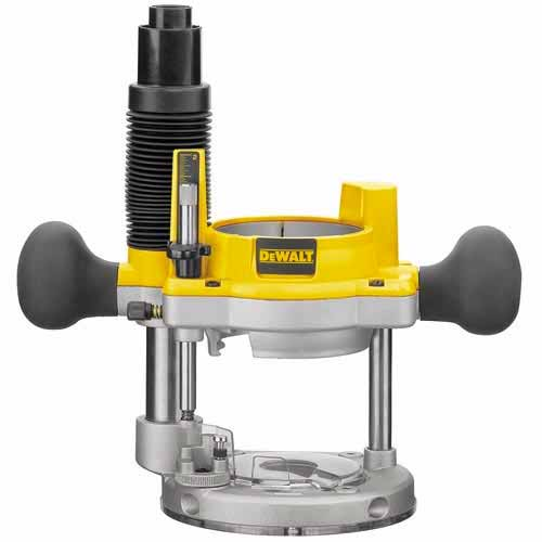 Base of DEWALT DW618PK 12-AMP 2-1/4 HP Plunge and Fixed-Base Variable-Speed Router Kit