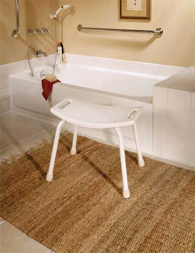 Amazoncom Safety First S1F595 Tub and Shower Seat White Home