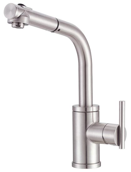 Danze D404558SS Parma Single-Handle Kitchen Faucet with Pull Out ...
