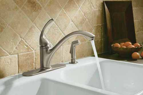 kohler forte kitchen faucet pullout forte kitchen faucet vibrant finish kohler k10412cp single control sink faucet polished