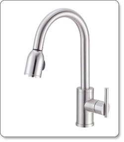 danze parma single handle pull down kitchen faucet - Danze Kitchen Faucets