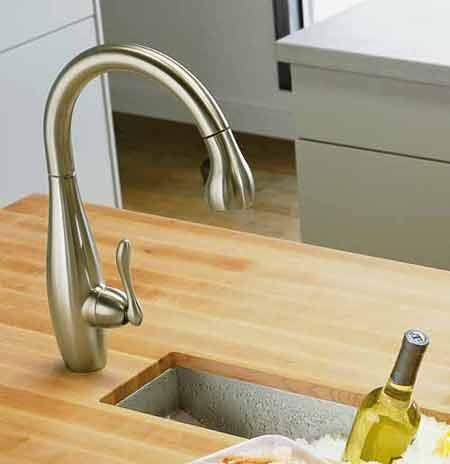 KOHLER K-692-CP Clairette Kitchen Sink Faucet, Polished